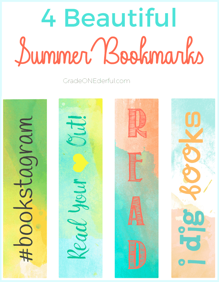 Free and Beautiful Summer Bookmarks