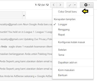 Cara Merubah Tampilan Gmail ke Tampilan Baru