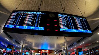 Notic Board Penerbangan KLIA2