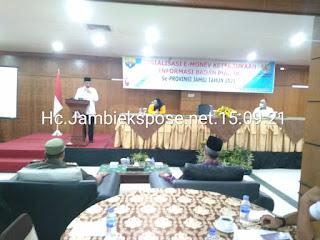 Wakil Gubernur Jambi Secara Resmi Membuka Sosialisasi E-Monev Keterbukaan Informasi Badan Publik.
