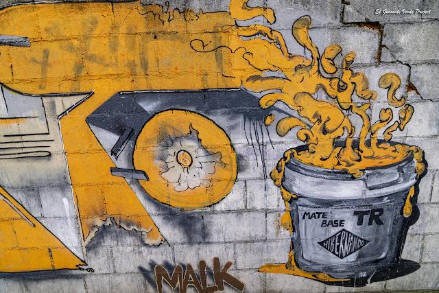 Mural 'Mate Base' Malk e Hibernando en Zorrozaurre - Bilbao, por El Guisante Verde Project