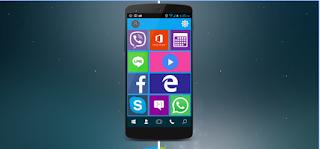 Cara merubah tampilan android menjadi windows 10 dengan mudah