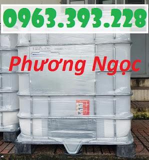 Thùng nhựa vuông 1000L, bồn nhựa 1 khối có khung sắt, tank hóa chất