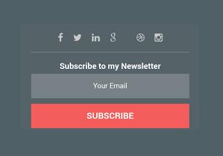 Cara Pasang Kolom Subscribe dan Link Media Sosial Pada Blogspot