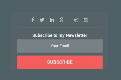 Cara Pasang Email Subscribe dan Media Sosial Pada Blogspot - Trik dan Tips Pasang Email dan Medsos di Blog