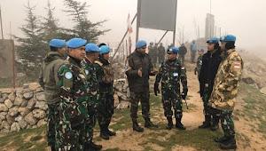 Komandan Indobatt Kunjungi Markas India Batalyon 9 Dogra Di UNP 4-2 Lebanon