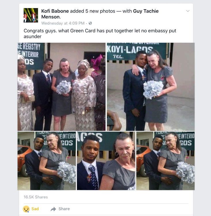Oyibo woman and her Nigerian hubby go viral after tying the knot in Lagos