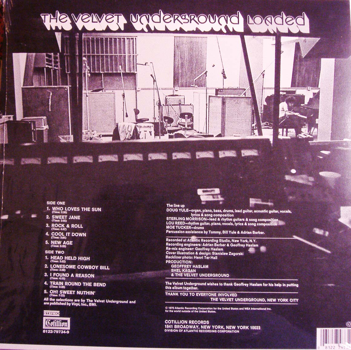 Closed Groove Loaded The Velvet Underground 1970