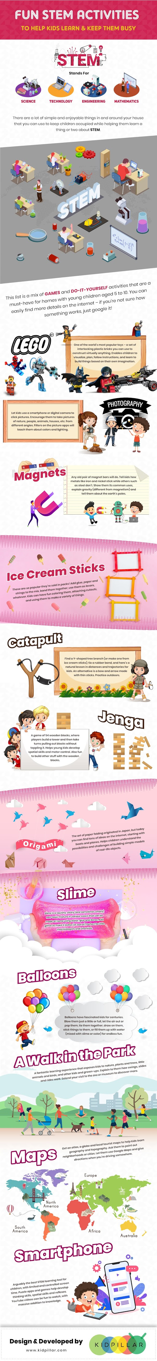 Fun STEM Activities to Keep Children Busy #infographic #Children #infographics #Children Fun #Children Busy #Parenting