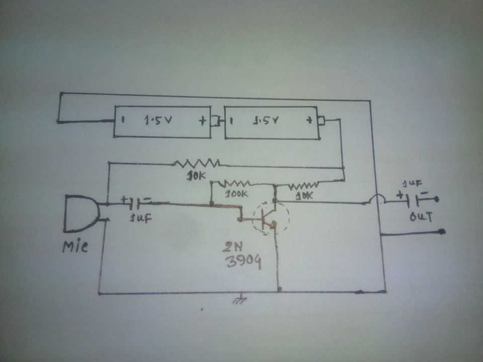 Simple Microphone Circuit Diagram | Electrical And Electronics Educations Microphone Circuit Diagram