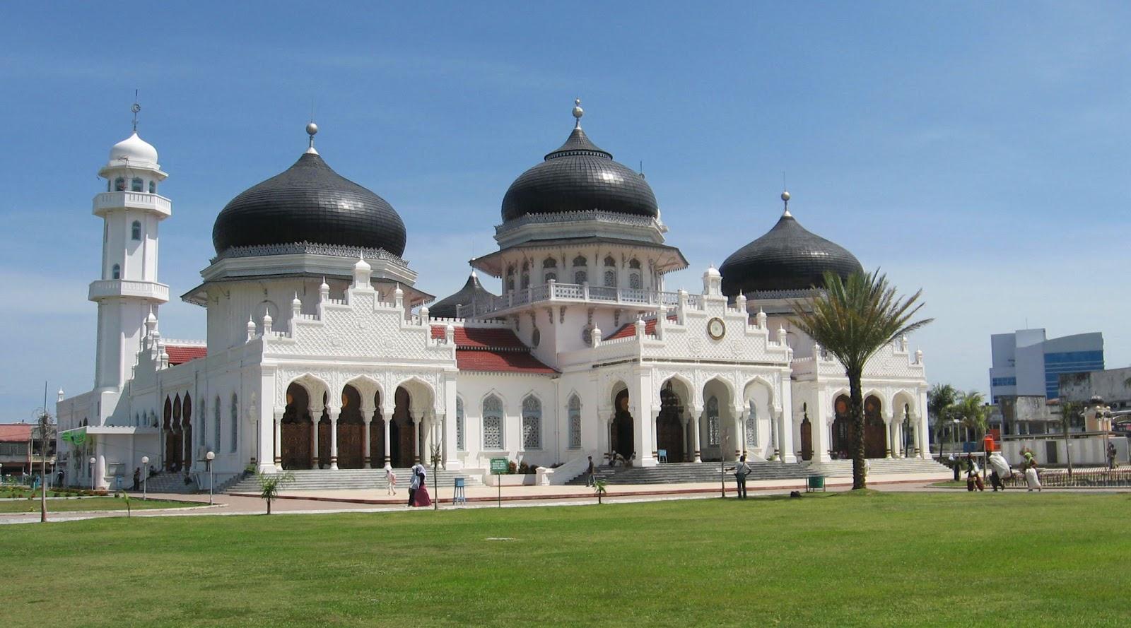 Masjid Raya Baiturrahman wisata indonesia paling indah