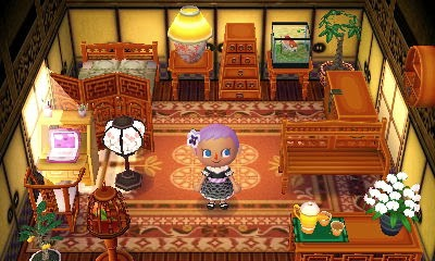 Animal Crossing: New Leaf - exotic theme set of furniture