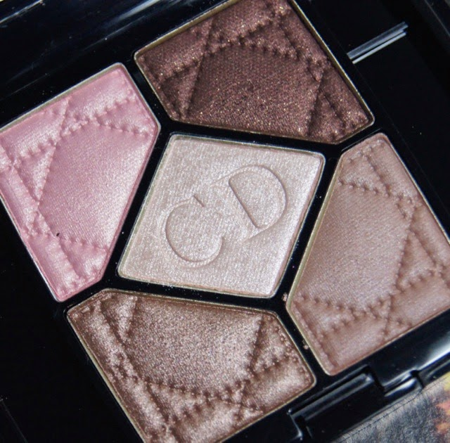 dior 5 couleurs eyeshadow palettes 754 rosy tan swatches review warm brown pink frosted pearl shades