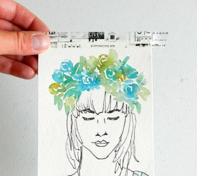 Hang art with Washi Tape!