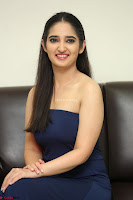 Radhika Mehrotra in sleevless Strap less Blue Gown At Prema Entha Madhuram Priyuraalu Antha Katinam Movie Interview ~  Exclusive 001.JPG