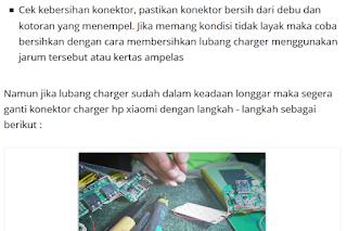 cara mengatasi port charger hp xiaomi rusak