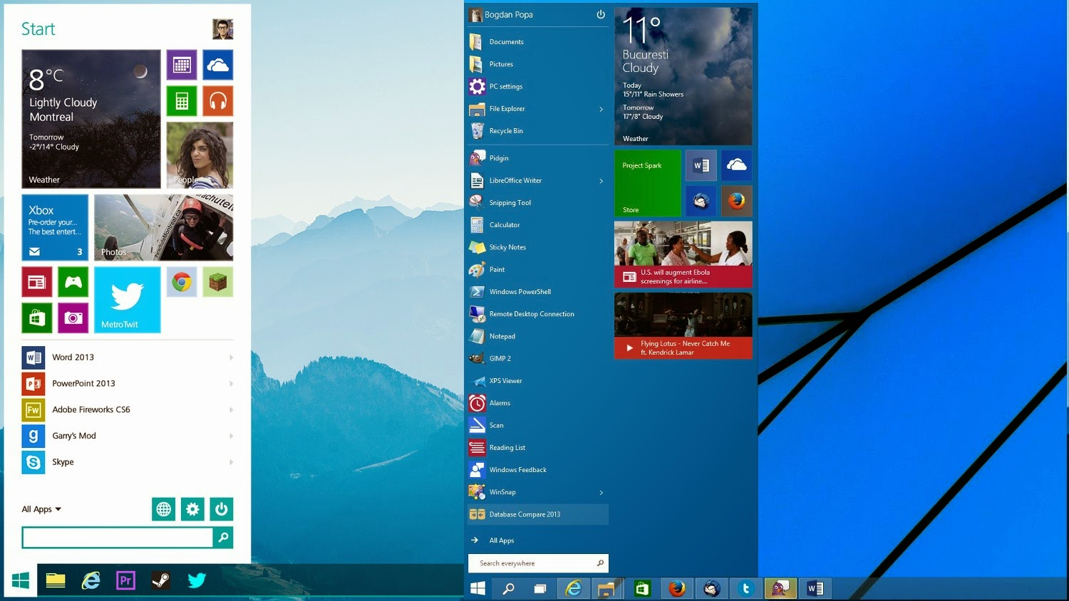 so similar to the windows 7, and also it has all features of windows 8 ...