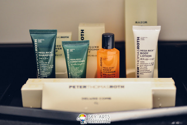 Premium PeterThomasRoth amenities found in the toilet @ Hilton Tokyo