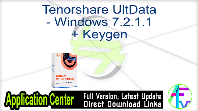 Tenorshare UltData – Windows 7.2.1.1 + Keygen