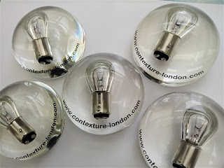 Promotional paperweight for an electrician