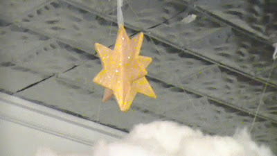 Little Glittery Paper Mache Star hanging