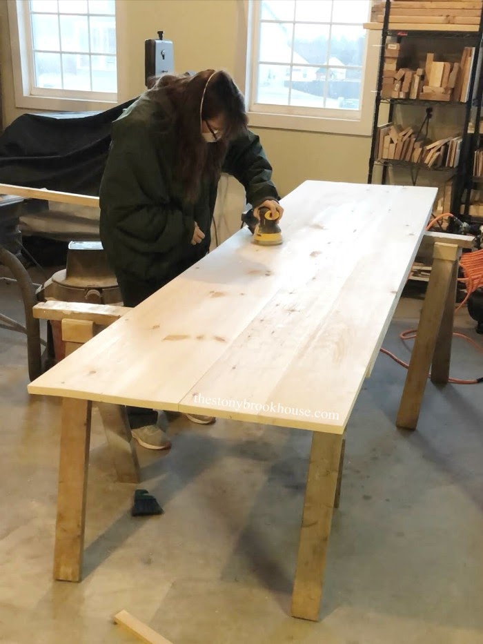 sanding desk smooth