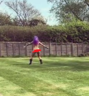 Jodie Marsh strips completely naked and dances around