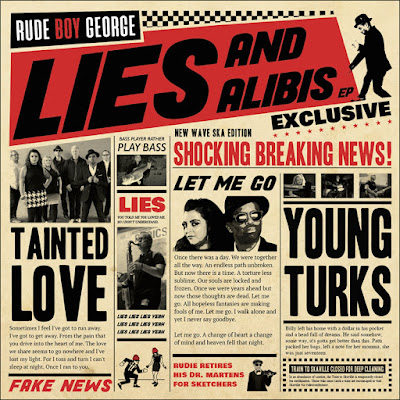 The EP cover is made to look like a tabloid newspaper, with titles of songs as headlines and lyrics as the stories. Pictures of various band members are scattered throughout.