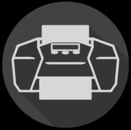 print blackout icon