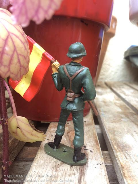 """Soldado abanderado """"Españoles"""", Soldados del Mundo, Comansi"""