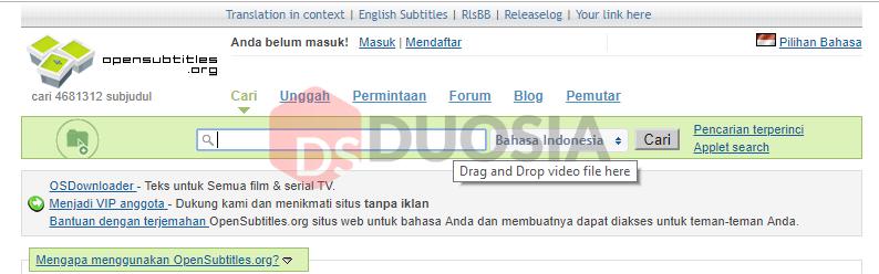 download subtitle tanpa ribet