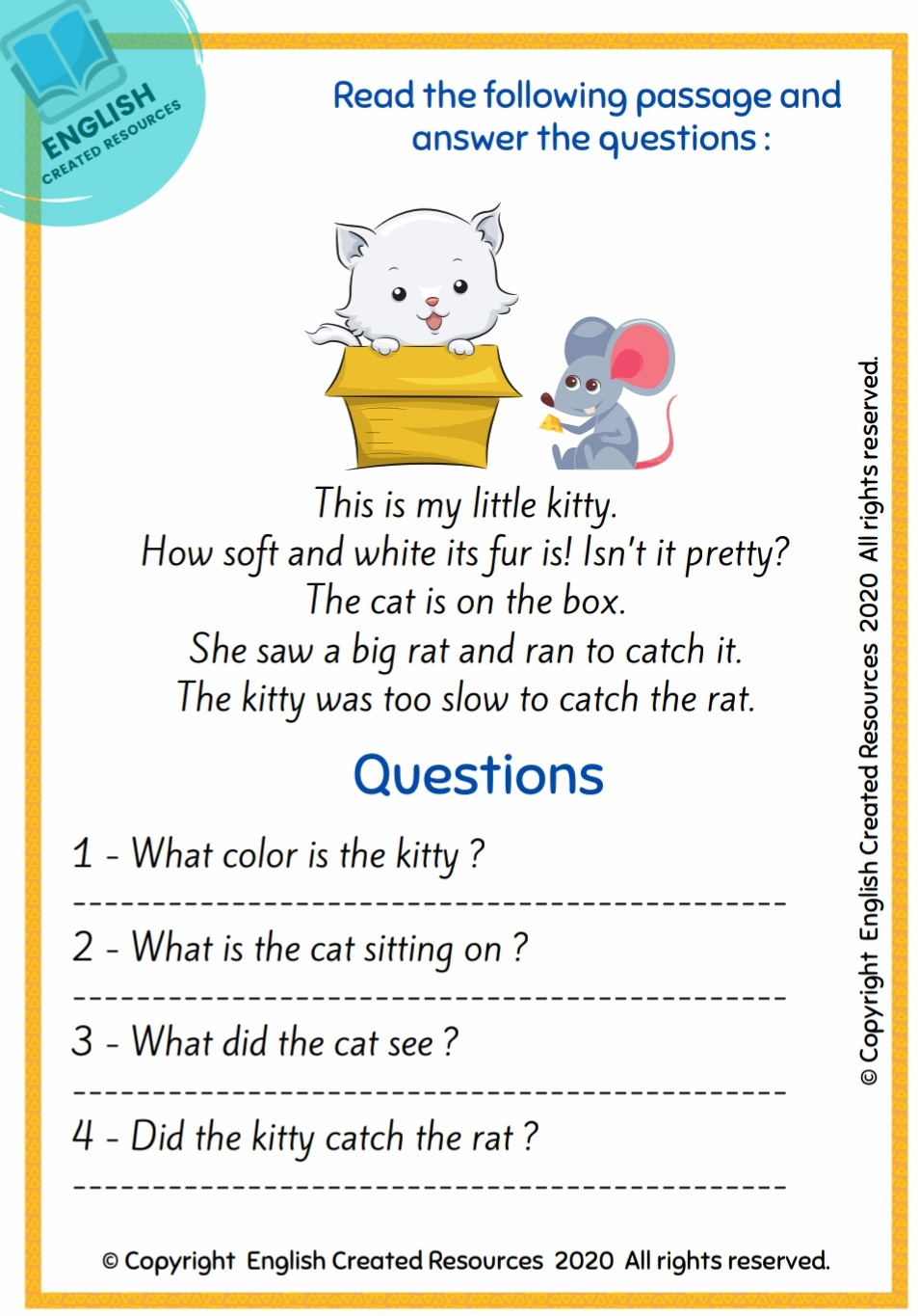 small resolution of Reading Comprehension Worksheets Grade 1