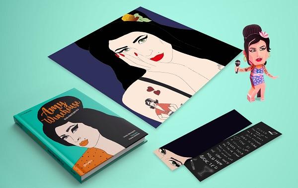 Editora nacional lança história ilustrada de Amy Winehouse e anuncia próxima edição de Kurt Cobain