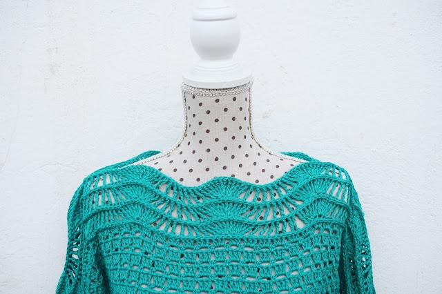 1 - Crochet Imagen Blusa verde a crochet y ganchillo muy facil sencilla paso a paso por Majovel Crochet