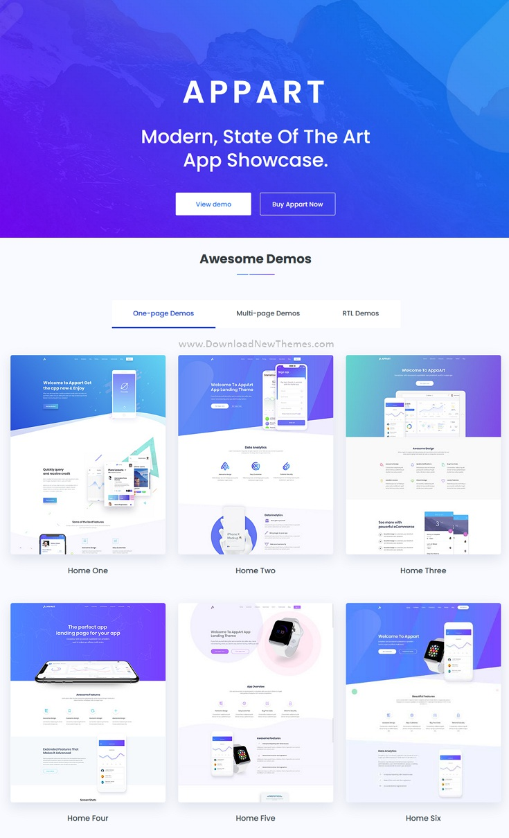 Creative HTML Template For Apps