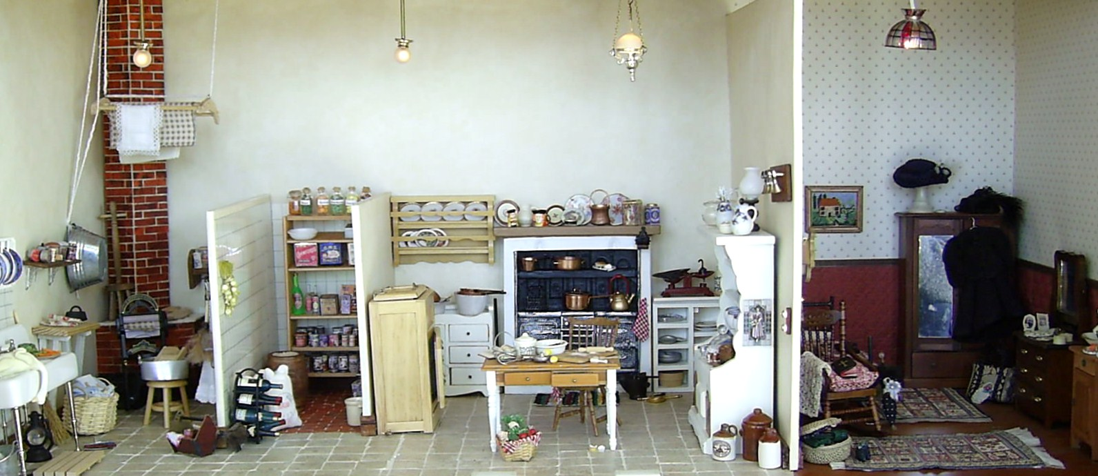 Edwardian Kitchen Dolls Houses And Minis Edwardian Dolls House The Ground Floor