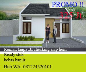 rumah siap huni tanpa BI checking pinggir jalan SMP 1 Cinunuk Bandung Timur