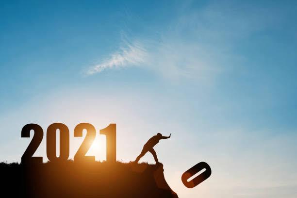 صورة تصف انتهاء 2020 وحلول عام 2021