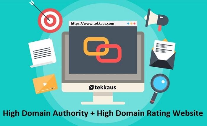 High Domain Authority Rating Website Dofollow Links SEO