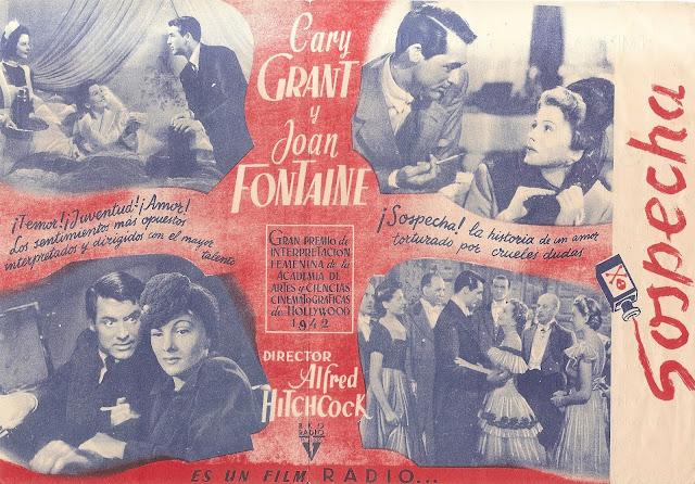 Programa de Cine - Sospecha (Doble) - Cary Grant - Joan Fontaine