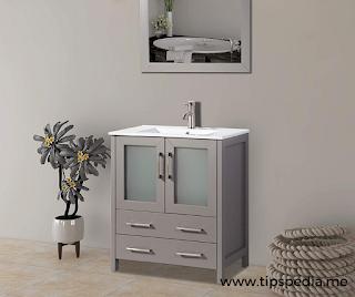 dark gray bathroom cabinets