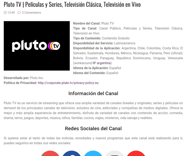 Ficha Canal Hollogram Television