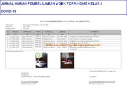 Jurnal Harian Pembelajaran (Work Form Home) Kelas 5
