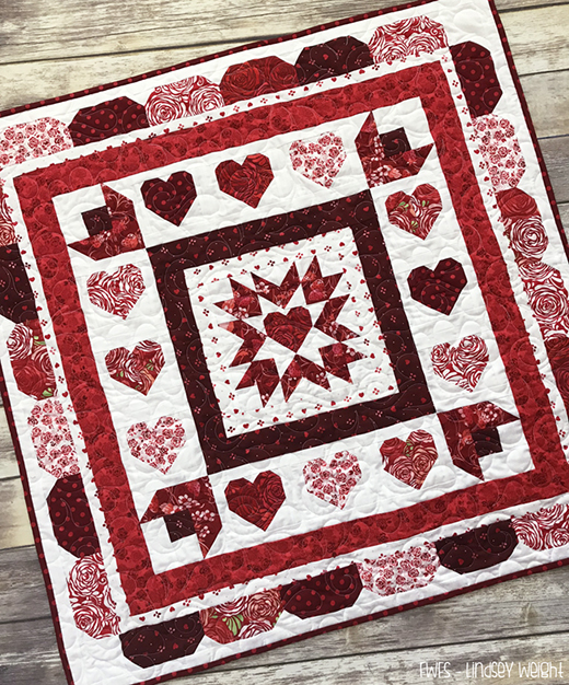 Love Throughout the Year Mystery Quilt Designed by Lindsey Weight for Fort Worth Fabric Studio