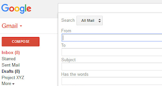 Gmail search interface