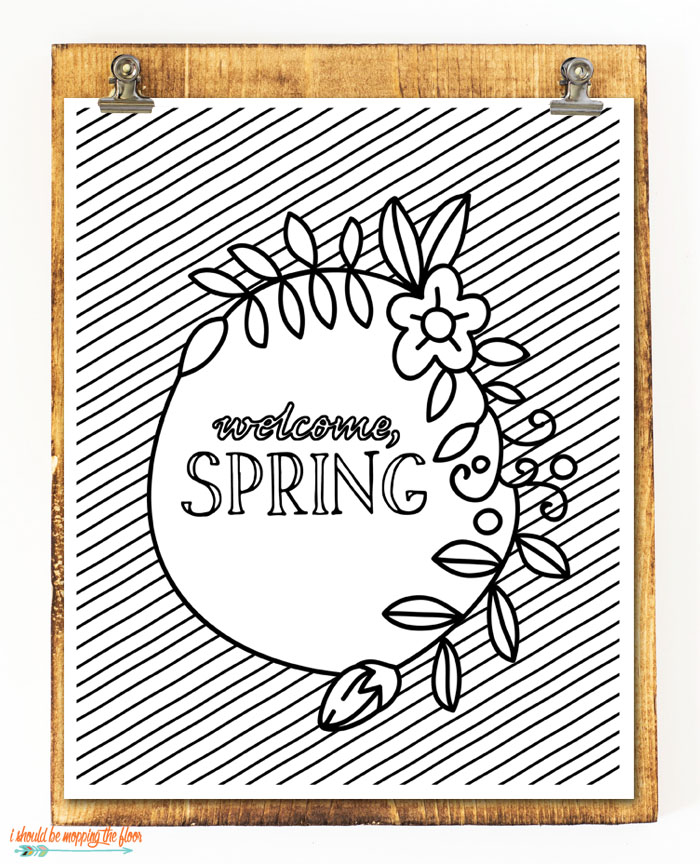 Welcome, Spring Printable
