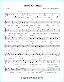 chord that old black magic 1 lagu jazz standar