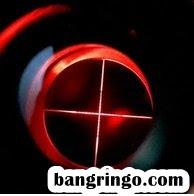 Lampu merah pada Reticle pada Comet 3-9x40 AOE