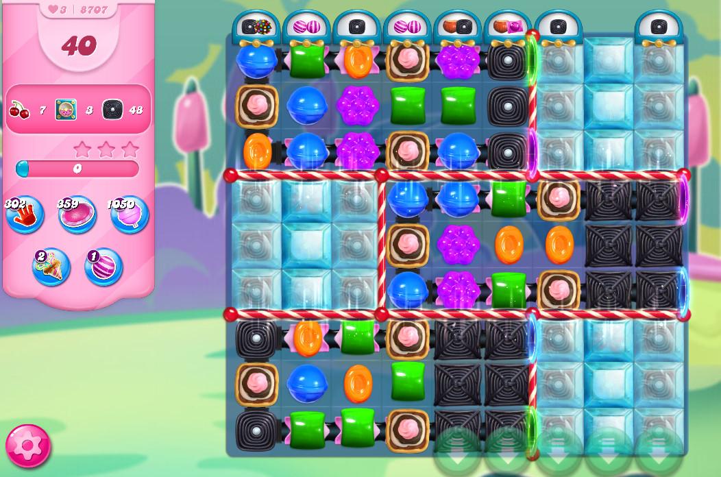 Candy Crush Saga level 8707
