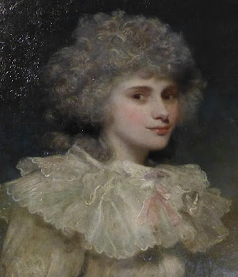 Lady Elizabeth Foster, later Duchess of Devonshire, in South Sketch Gallery, Chatsworth